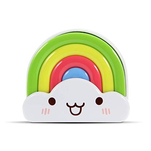LED Baby Night Light, OxyLED Kids Bedside Night Lamp Rainbow Toddler Nightlight with Voice Light Sensor - Plug in Wall Light Lamp (2-Pack) by OxyLED