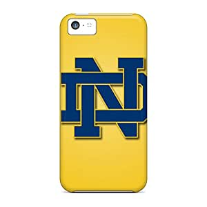 Scratch Protection Hard Cell-phone Case For Iphone 5c (EdQ20115SMyk) Support Personal Customs Vivid Notre Dame Fighting Irish Skin