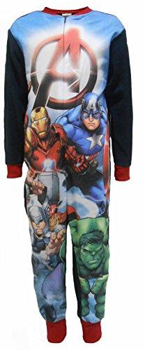 Marvel Avengers A Boys Fleece One Piece Sleepsuit 7-8 (Captain Fleece)