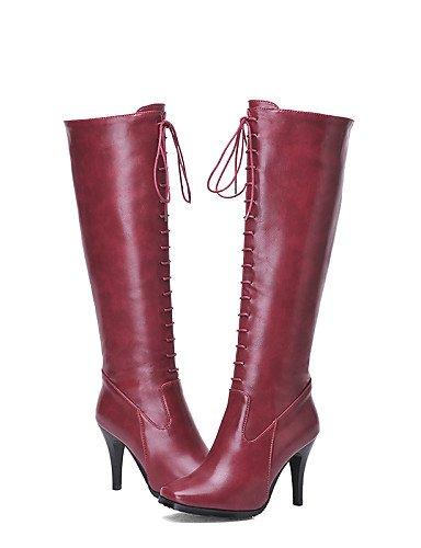Botas Stiletto Zapatos Vestido Mujer us6 7 Cn37 Y Oficina Casual Sintético Cerrada Eu37 De 5 Xzz Trabajo Cuero Cuadrada 5 Black 5 Uk4 Tacón Punta wIAxwq8p