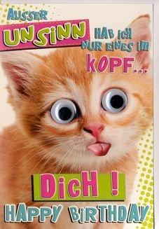 Karte Geburtstag Humor Lustige Katze Mit Spruch Auf Festem Papier