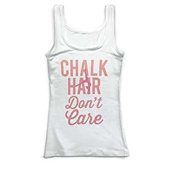 ChalkTalkSPORTS Gymnastics Vintage Fitted Tank Top - Chalk Hair Don't Care