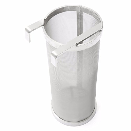 "400 Micron Home Brewing Beer Brewing Hop Filter Stainless Steel Hopper Spider Wine Beer Brew Hop Filter(6""x14"") by MH"