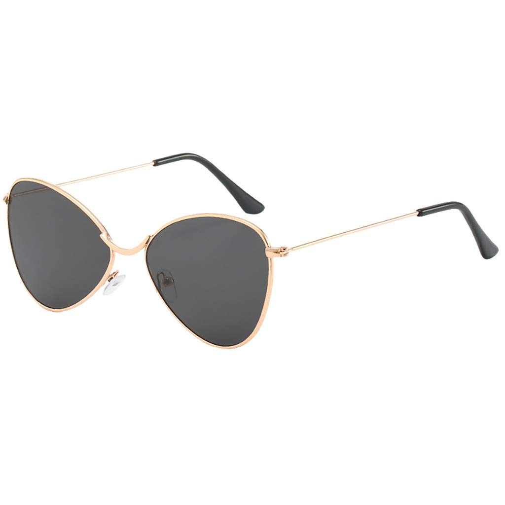 Sunglasses Men JIUDASG Women Polarized Metal Mirror Semi-Rimless Frame Glasses