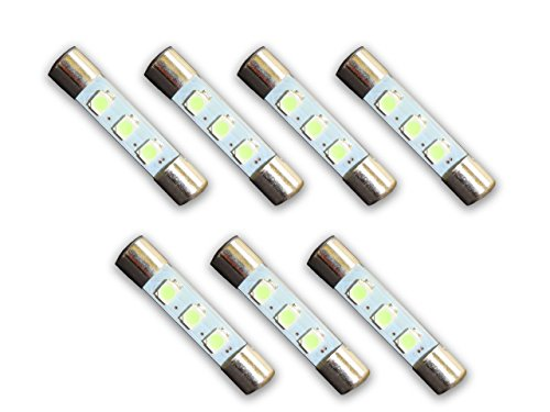 7 COOL BLUE 8V LED Lamp Fuse-Type Bulbs for Marantz Receivers and (Light Blue Type)