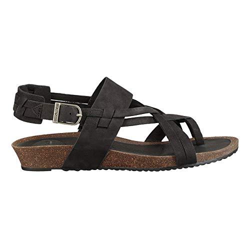 Teva Women's W Ysidro Extension Sandal, Black, 9 Medium - Cork Sandals Teva