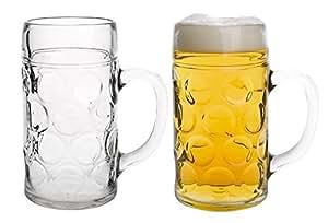 Domestic 922675 - Jarras de cerveza típicas de Alemania (1 litro, 2 unidades)