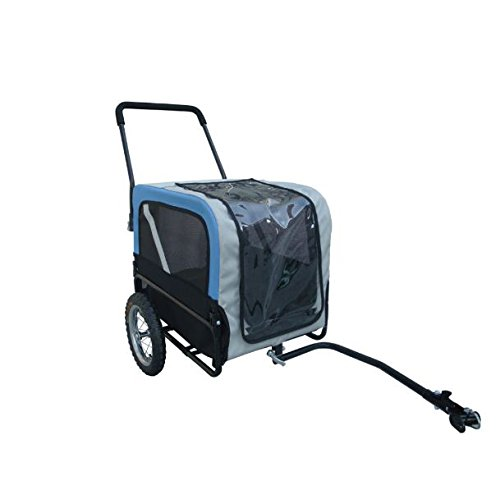 SKB Family Blue Dog Bike Trailer with Jogger New Pet Carrier Stroller Cart Bicycle