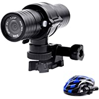 Action Camera-Black Waterproof Outdoor Sport 1080P Action Camera Wide-angle Lens
