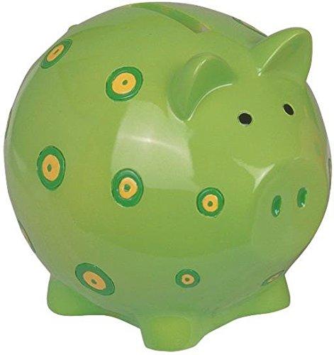 StealStreet SS-G-54195 Cute Green Piggy Bank With Spots Design Collection Decoration (Sculptures Wildlife Resin)