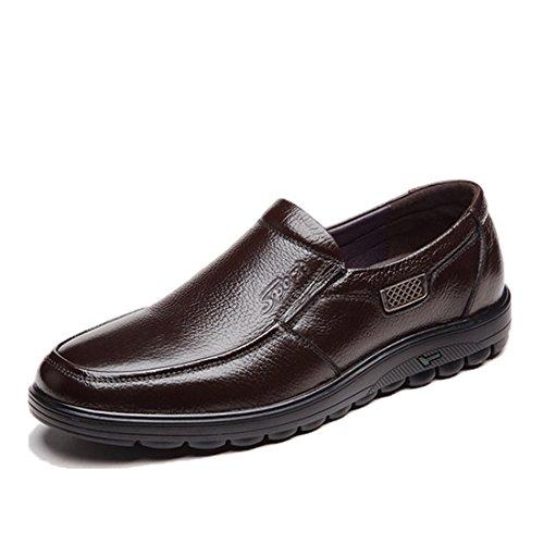 Mocassini Casual Da Uomo Classici - Mocassini Da Guida Morbidi Slip On Shoes 6075 Marrone