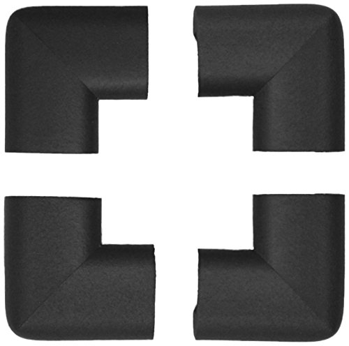 - KidKusion 4-Piece Safety Corner Cushion; 4 Pack Black; Child Proofing Corner Guard; Made in USA; Child Safety, Home Furniture Safety Bumper, Baby Proof Table Protector