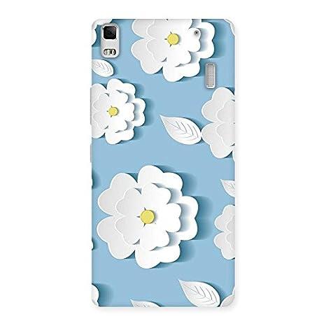 Aesthetic Artsy Floral White Back Case Cover For Lenovo Amazonin
