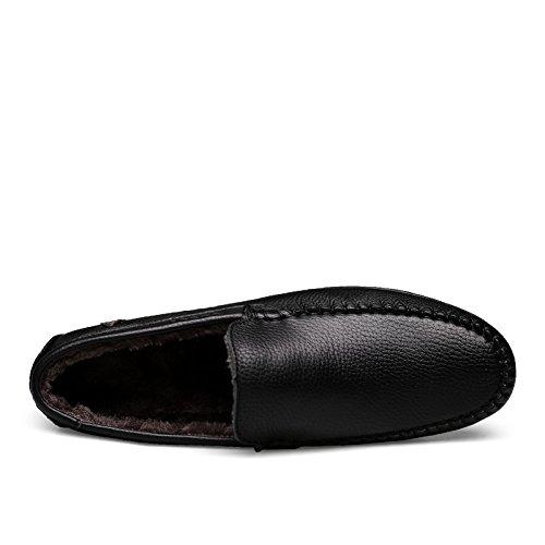 New Scarpe Bussiness In Uk Calda Il 9002 Driving Lana Slip Pelle Libero Cosy Tempo 1 Per Black Mens Salabobo Size7 Qyy On XTAwxU