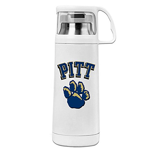 Handson Stainless Steel Vacuum Insulated Travel Mug Pittsburgh Pitt Sports Team Insulated Water Bottle White - Strange Olympic Sports