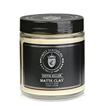 Crown Shaving Matte Styling Clay with Medium Hold and Matte Finish, Provides Texture and Volume, 120 ml/4 oz