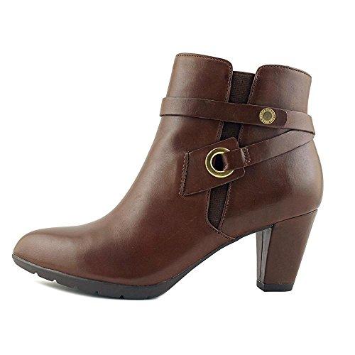 Anne Klein Womens Chelsey Suede Western Boot Cognac Leather JKQUYSve