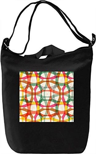 Colorful Print Borsa Giornaliera Canvas Canvas Day Bag| 100% Premium Cotton Canvas| DTG Printing|