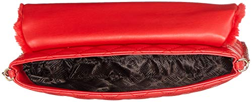 Love Moschino Pu Pochettes Quilted Rouge Rosso Borsa polies Nappa zg7Bzr