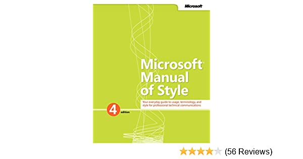Microsoft Manual Of Style For Technical Publications Pdf