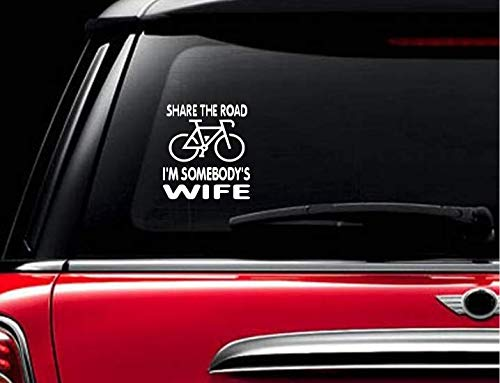 Cycling Road Bike Cyclist Window Decal White or Choose Color