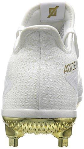 Adidas Mens Freak X Carbon Mid Baseball Scarpa Ftwr Bianco, Oro Met., Oro Met.