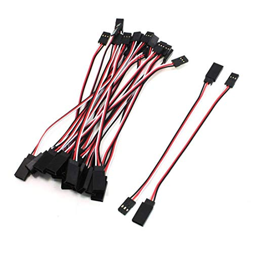 o Extension Cable 3 Pin Male to Female Lead Wire for RC Airplane(5.9inch, 10Pcs) ()