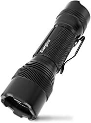 ENERGIZER LED Tactical Flashlight, IPX4 Water Resistant, Super Bright, Heavy Duty Metal Body, Built For Campin