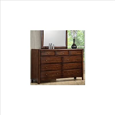 Hillary 9-Drawer Dresser Warm Brown - Nine drawers make it easy to always have room for clothes and valuables stored neatly away Add this dresser to your bedroom suite for the perfect storage piece Made in Malaysia - dressers-bedroom-furniture, bedroom-furniture, bedroom - 41o IeaptKL. SS400  -