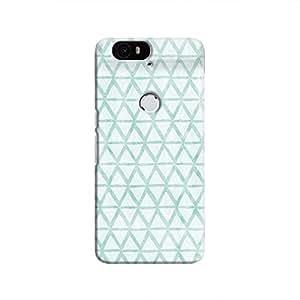 Cover It Up - Triangle Print Blue Nexus 6P Hard Case