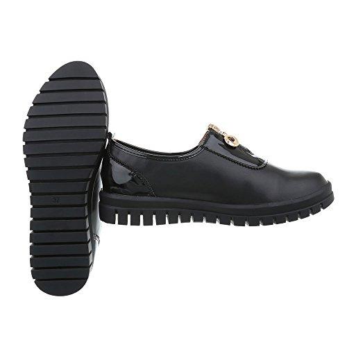 Ital J5A Design Schwarz Freizeitschuhe Damenschuhe Sneakers Low Low Moderne Sneakers zzqprF