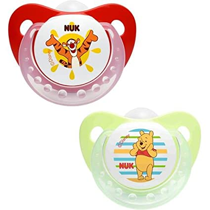 Chupetes Nuk silicona 6 - 18 M Winnie the Pooh rosso-verde ...