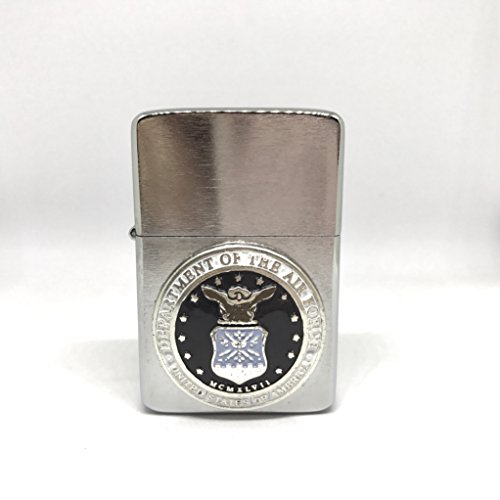 US Air Force Thunderbird Vector Pocket Lighter Stainless Steel Single Torch Cigar Lighter – Cigar Cutters by Jim (Air Force Single)