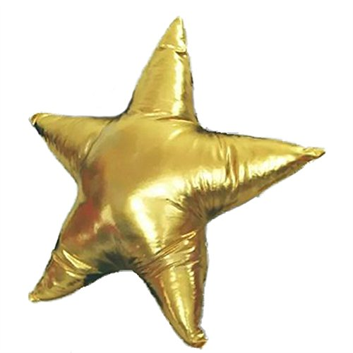 Nunubee Throw Pillow Cute Cushion Toys As a Gift & Home Decor Dual Use Gold Five-pointed Star 17.7