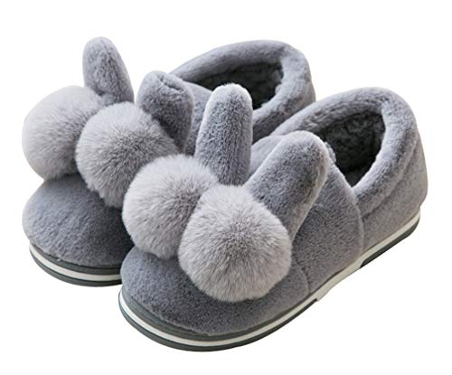 Slippers Outdoor Bunny Indoor Gray Slipper Cute Winter Womens Warm Shoes OwxZfPIB