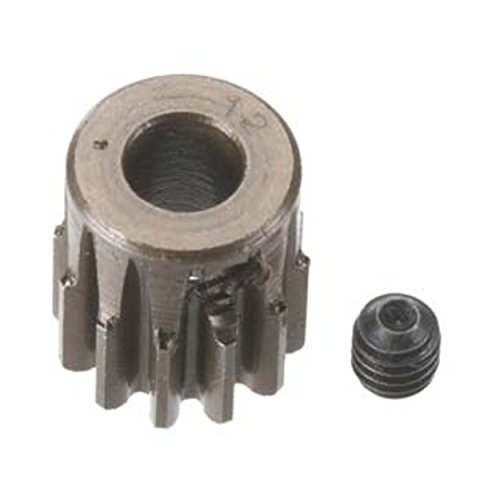 Robinson Racing Products 8712 Hard Bore 0.8 Module Pinion Gear, 12T, 5mm