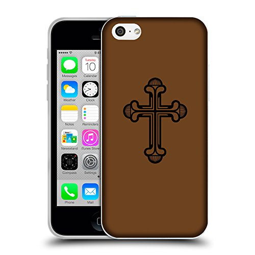 GoGoMobile Coque de Protection TPU Silicone Case pour // Q07950633 Christian Cross 20 Sépia // Apple iPhone 5C