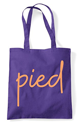 Purple Tote Statement Shopper Pied Bag Quote Hashtag 4FTYqxR