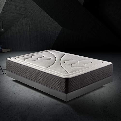 HOME Colchon 150x190cm Viscoelastico Memory Vex Foam 27cm Altura, 5cm viscoprogresion Grafeno