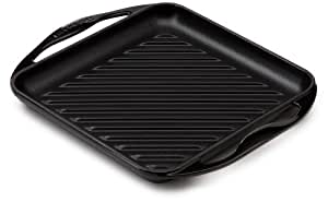 Le Creuset 20127001400460 - Parrilla cuadrada (0,9 L, 24 x 24 cm), color negro
