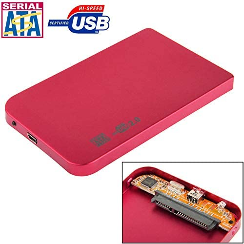 Size 2.5 inch SATA HDD External Case Color : Red 126mm x 75mm x 13mm
