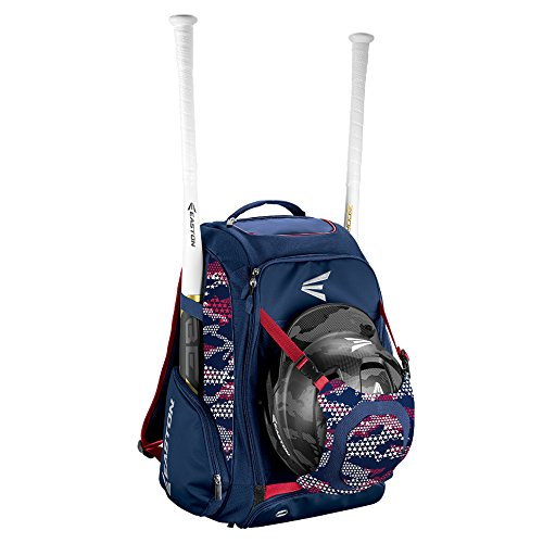 EASTON WALK-OFF IV Bat & Equipment Backpack Bag | Baseball Softball | 2019 | Stars & Stripes | 2 Bat Sleeves | Vented Shoe Pocket | External Helmet Holder | 2 Pockets | Valuables Pocket | Fence Hook