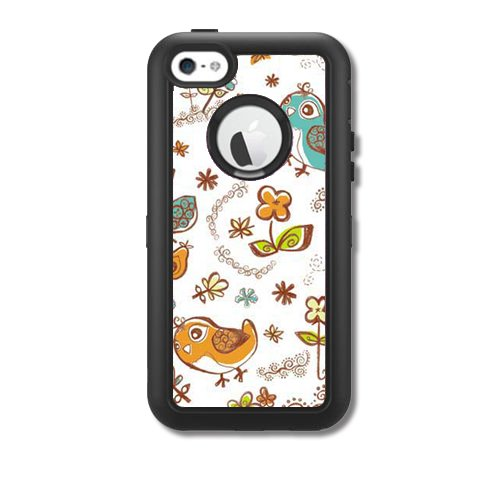 Skins Kit for OtterBox Defender iPhone 5C Case (skins/decals only) – Birds Scrapbooking Scrap Book Flowers (Only Scrapbooking)