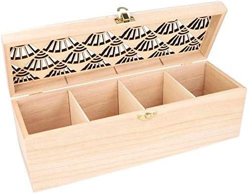 Artemio - Caja de té con 3 Compartimentos, 30 x 10 cm, Madera, 30 x 10 cm: Amazon.es: Hogar