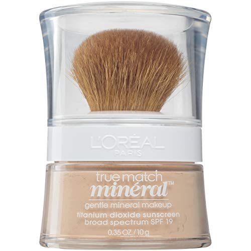 L'Oréal Paris True Match Mineral Loose Powder Foundation Light Ivory, 0.35 Ounce
