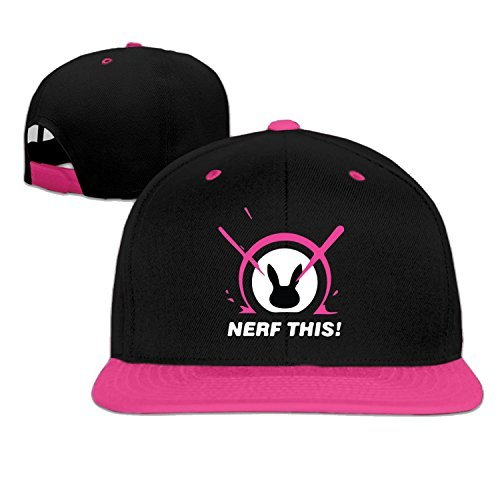 Cool Unisex D.Va Nerf This Rabbit Snapback Hip-Hop Hat Flat Peaked Baseball Cap (5 - Usps Time Deliver To