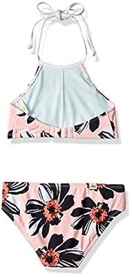 Hobie Big Girls' High Neck Tankini and Adjustable Hipster Bottom Swimsuit Set