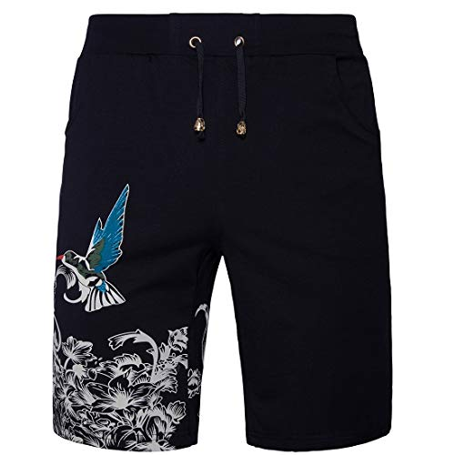 urraca Apparel urraca Deportes Urraca los Negra de STAZSX Ocasionales de Verano Imprimir Pantalones de Hombres Negro La Cortos 1qnUEwxZ
