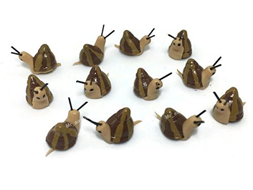 Lot of 12 Miniature Snail Fairy Garden Supplies Animal Figurine Furniture Dollhouse GD#004 (Furniture Miniature Japanese Garden)