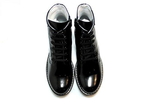 Nero Giardini A529752 Negro Polacchine Zapatos Estilo Unisex Para Niño, Diseño de Bandera de Reino Unido